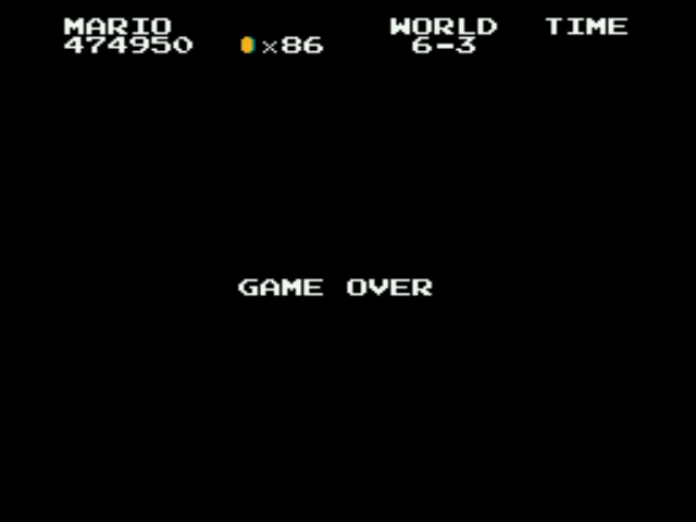 Super Mario Bros - Genesis - oh f#@! - User Screenshot